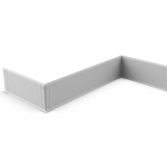 Wall Guard with hygienic skirting (PPC)
